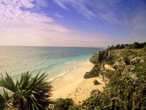 Caribbean Sea, Tulum, Yucatan, Mexico by Walter Bibikow