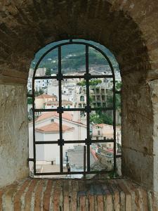 Castello Ruffo, Town View from Castle Window, Scilla, Calabria, Italy by Walter Bibikow