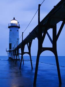 Catwalk to Door of Lighthouse by Walter Bibikow