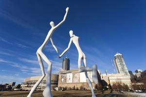 Center for Performing Arts, Sculpture by Jonathan Borofsky, Denver, Colorado, USA by Walter Bibikow