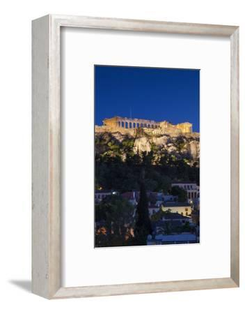 Central Greece, Athens, Acropolis, Elevated View, Dusk