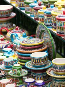 Ceramic Souvenirs, Positano, Amalfi Coast, Campania, Italy by Walter Bibikow