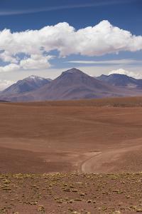 Chile, Atacama Desert, Desert Landscape by the Paso Jama by Walter Bibikow