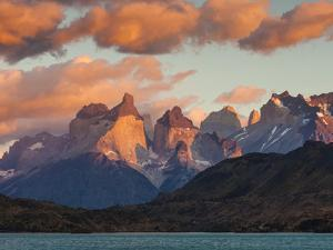 Chile, Magallanes Region, Torres Del Paine National Park, Lago Pehoe, Dawn Landscape by Walter Bibikow