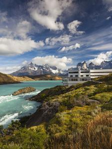Chile, Magallanes Region, Torres Del Paine National Park, Lago Pehoe, Explora Hotel by Walter Bibikow