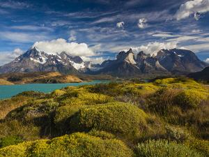 Chile, Magallanes Region, Torres Del Paine National Park, Lago Pehoe, Morning Landscape by Walter Bibikow