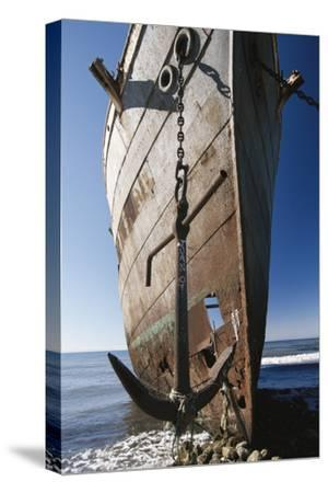 Chile, Punta Arenas, Shipwreck of Lonsdale Port Area