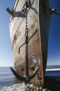 Chile, Punta Arenas, Shipwreck of Lonsdale Port Area by Walter Bibikow