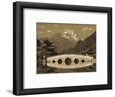 China, Yunnan Province, Lijiang, Black Dragon Pool Park and Jade Dragon Snow Mountain