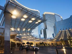 City Center at Dawn, Las Vegas, Nevada, Usa by Walter Bibikow
