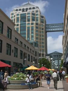 City Center Pedestrian Zone, Downtown Oakland, California by Walter Bibikow