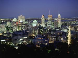 City Skyline, Montreal, Quebec, Canada by Walter Bibikow