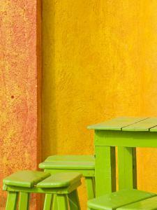 Colorful Building Detail, Barra De Navidad, Jalisco, Mexico by Walter Bibikow