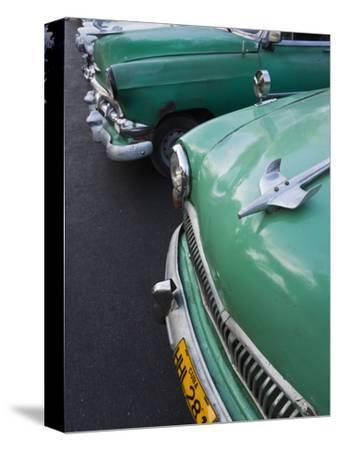 Cuba, Havana, Central Havana, Parque De La Fraternidad, Old 1950s-Era US Cars