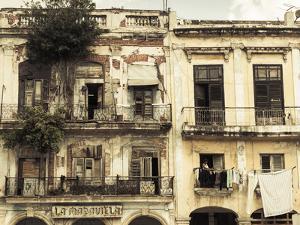 Cuba, Havana, Havana Vieja, Building Detail, Plaza Del Cristo by Walter Bibikow