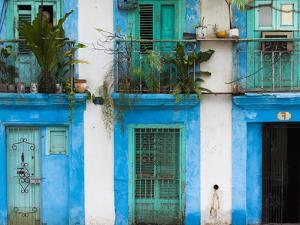 Cuba, Havana, Havana Vieja, Old Havana Buildings by Walter Bibikow