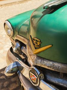 Cuba, Sancti Spiritus Province, Trinidad, 1950s-Era US-Made Cadillac Taxi by Walter Bibikow