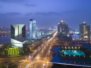 Deira Buildings Along Dubai Creek and Baniyas Road, Dubai, United Arab Emirates by Walter Bibikow
