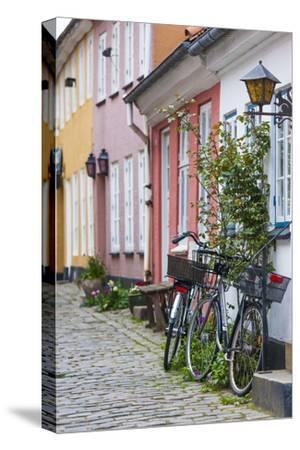 Denmark, Jutland, Aalborg, Houses Along Hjelmerstald Street