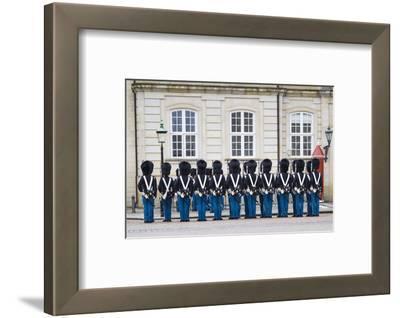 Denmark, Zealand, Copenhagen, Amalienborg Palace, Changing of the Guard Ceremony
