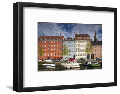 Denmark, Zealand, Copenhagen, Christianshavn Neighborhood, Canal Side Buildings