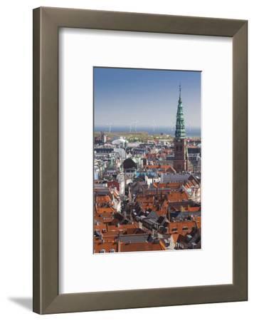 Denmark, Zealand, Copenhagen, Elevated City View