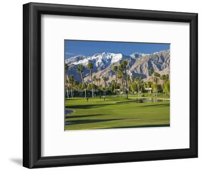 Desert Princess Golf Course and Mountains, Palm Springs, California, USA