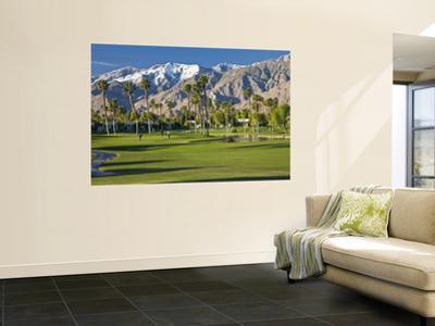 Desert Princess Golf Course and Mountains, Palm Springs, California, USA