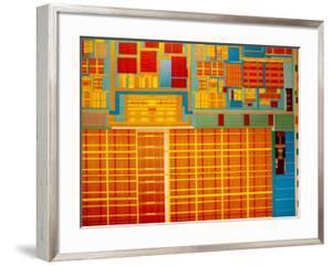 Detail of Integrated Circuit, Intel Museum, Santa Clara, California, Usa by Walter Bibikow