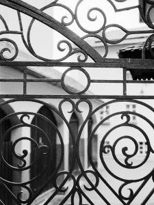 Detail of Metal Gate, Domplatz, Salzburg, Austria by Walter Bibikow