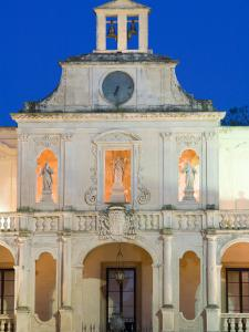 Details of Palazzo Vescovile, Baroque Piazza del Duomo, Lecce, Puglia, Italy by Walter Bibikow