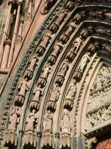 Details of the East Facade, Cathedrale Notre Dame, Strasbourg, Haut Rhin, Alsace, France by Walter Bibikow