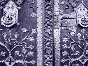 Door Detail, Frankfurt Am Main, Hessen, Germany by Walter Bibikow