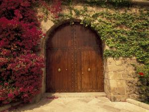 Doorway at Consolat de Mar, Palma de Mallorca, Balearics, Spain by Walter Bibikow