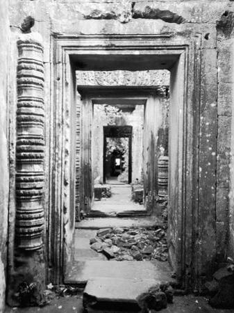 Doorways Preah Khan, Cambodia by Walter Bibikow