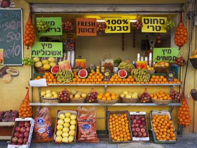 Downtown Fruit Stand, Tel Aviv, Israel by Walter Bibikow