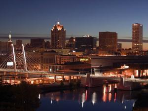 Downtown Milwaukee from Rte. 94 43 Hwy by Walter Bibikow