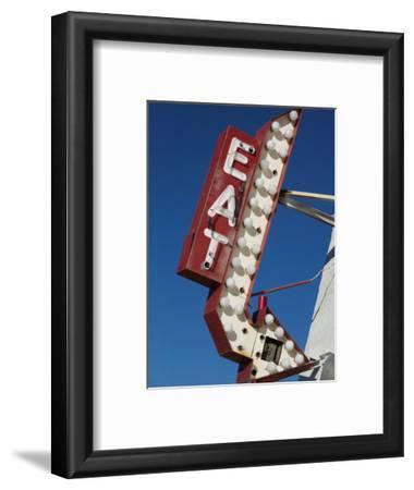 Eat Diner Sign along West 6th Avenue, San Jacinto District, Amarillo, Texas