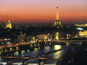 Eiffel Tower and River Seine, Paris, France by Walter Bibikow