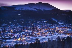 Elevated Town View from Mount Baldy, Breckenridge, Colorado, USA by Walter Bibikow