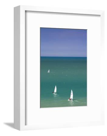 Elevated View of Sailboats, Veules Les Roses, Normandy, France