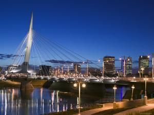 Esplanade Riel Pedestrian Bridge, Winnipeg, Manitoba, Canada by Walter Bibikow