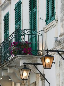 Evening Street Scene, Fiskardo, Kefalonia, Ionian Islands, Greece by Walter Bibikow
