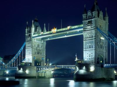 Evening View of The Tower Bridge, London, England by Walter Bibikow