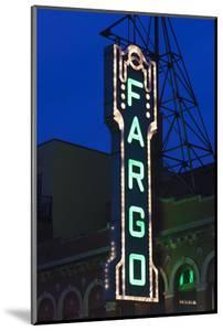 Fargo Theater Sign, Fargo, North Dakota, USA by Walter Bibikow