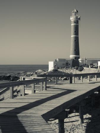 Faro Jose Ignacio, Atlantic Ocean Resort Town, Village Lighthouse, Uruguay by Walter Bibikow