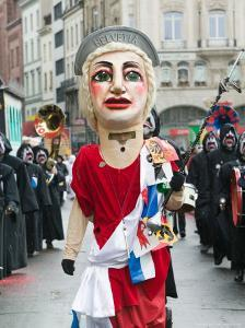 Fasnacht Carnival Costumes and Parade, Basel, Switzerland by Walter Bibikow