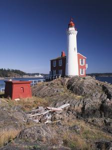 Fisgard Lighthouse, Fort Rodd, Victoria, British Columbia, Canada by Walter Bibikow