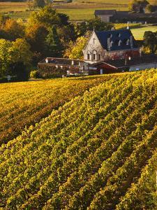 France, Aquitaine Region, Gironde Department, St-Emilion, Wine Town, Unesco-Listed Vineyards by Walter Bibikow