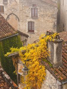 France, Midi-Pyrenees Region, Lot Department, St-Cirq-Lapopie by Walter Bibikow